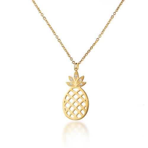 Collar de oro con patrón de fruta de estilo de moda