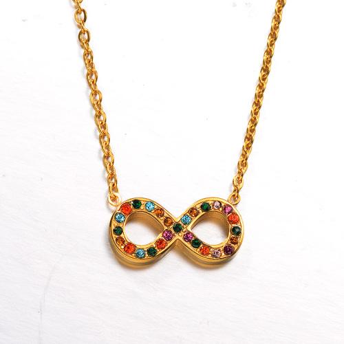 Collar de oro estilo diamante color arcilla de moda