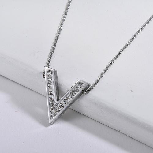 Collar de plata estilo moda