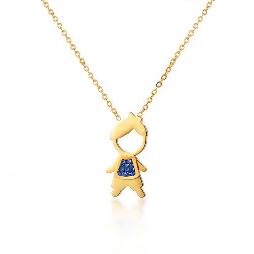 Fashion portrait style gold necklace