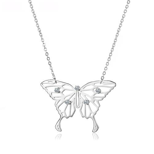 Collier en argent style papillon