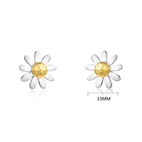 Stainless Steel Jewelry Daisy Flower Earrings