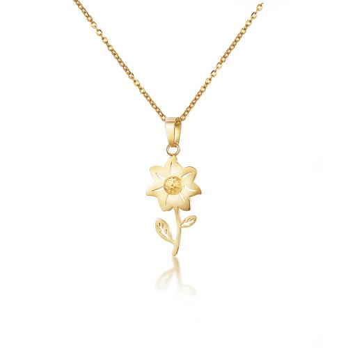 Collar de oro estilo flor de moda