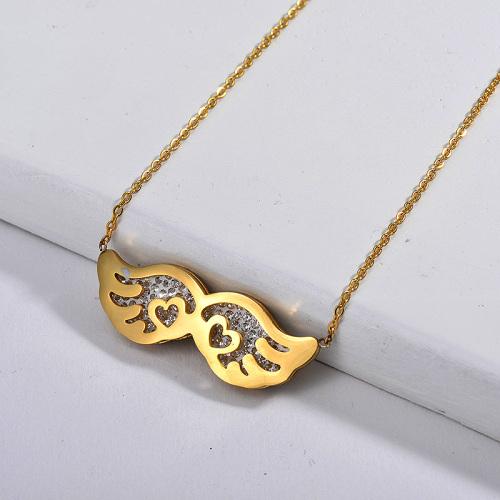 Collar de oro estilo ángel de moda