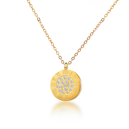 Fashionable Roman style gold necklace