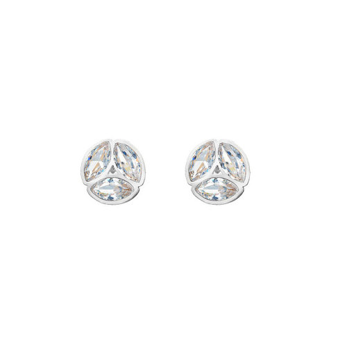 Silver Plated Stainless Steel Jewelry  Personality Crytals Earrings