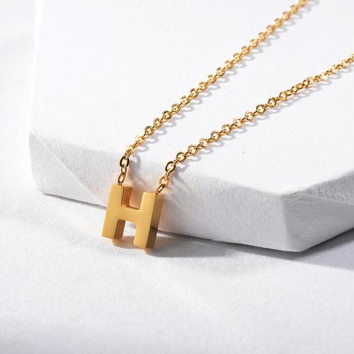 Collar personalizado vendedor caliente del encanto del nombre de la letra H del oro