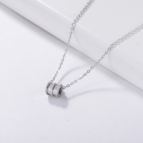 silver necklace Personality pendant Metal style