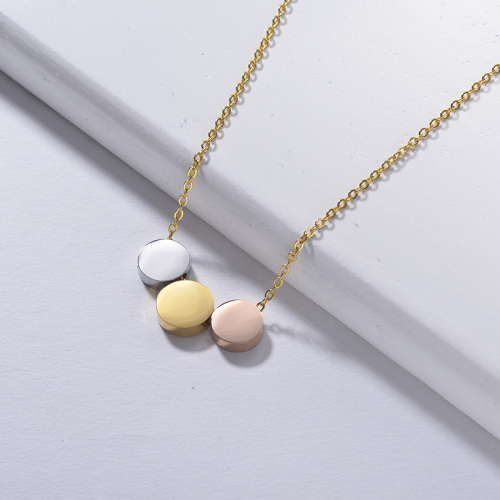 necklaces for women gold Three colors Three pendants