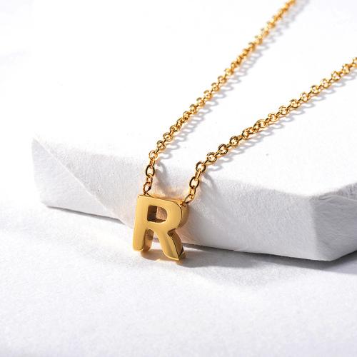 Collar delicado del encanto de la letra R del oro para requisitos particulares para las mujeres
