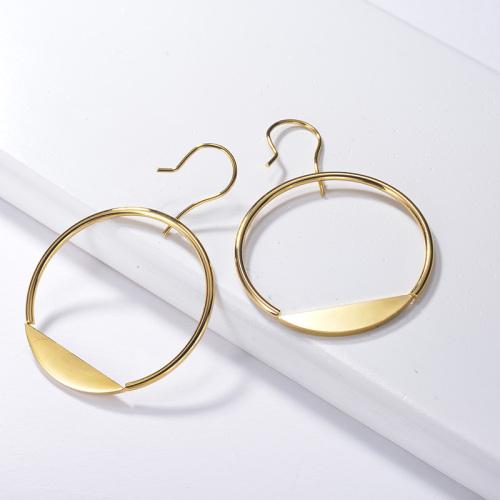 أقراط مطلية بالذهب مجوهرات من الفولاذ المقاوم للصدأ