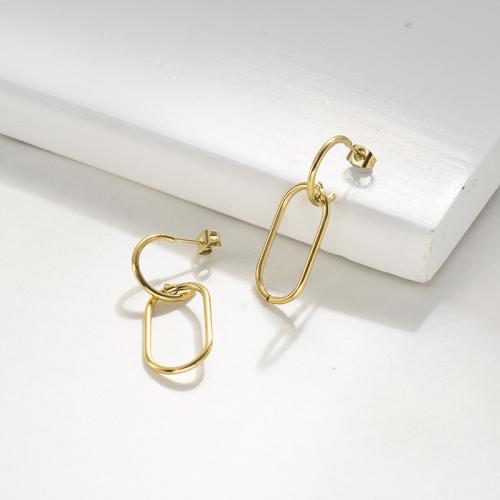 Fashion Geometric Stainless Steel Earrings -SSEGG143-22146