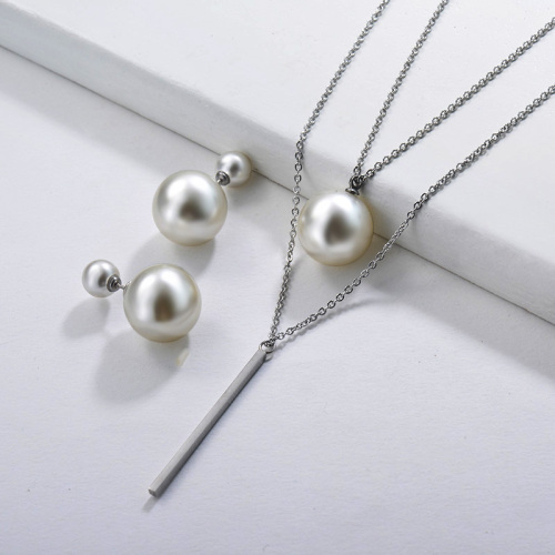 Pearl Layer Necklace Jewelry Sets