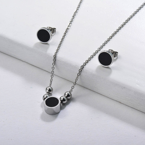 Stainless Steel Black Jewelry Sets