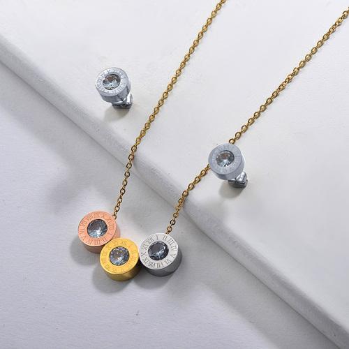 Ensembles de bijoux en zircon triple couleur