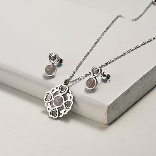 Conjuntos de joyas de collar de libélula de piedras preciosas