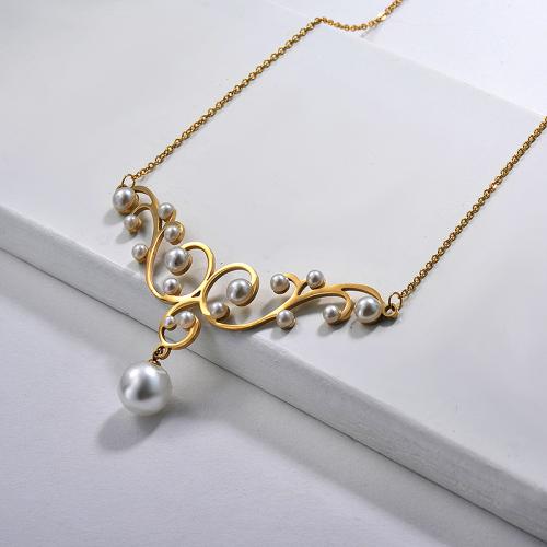 Collier en or de style mode simple