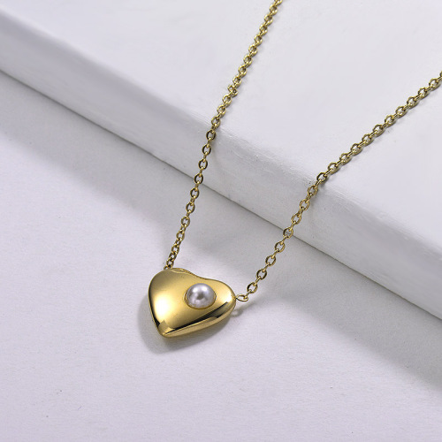 Heart-shaped personality fashion style gold necklace