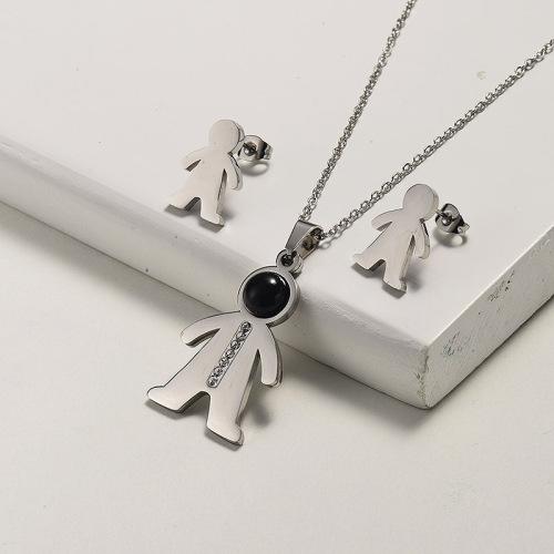 Conjuntos de joyas de collar de piedras preciosas