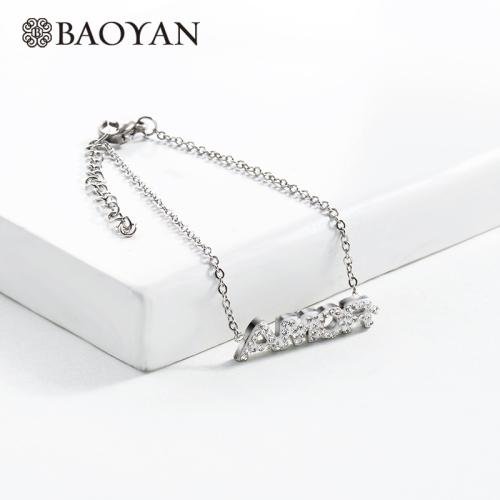 Pulsera de Acero Cristal Inoxydable pour Mujer -SSBTG143-14816-S