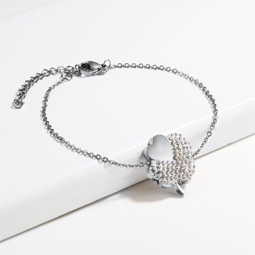 pulsera de acero inoxidable para mujer -SSBTG143-15384-S
