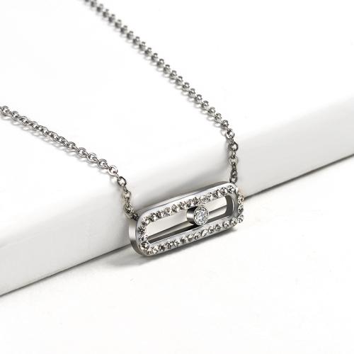 Collar de plata de diamantes de arcilla de estilo de moda