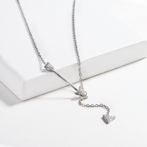 Fashion style clay diamond silver necklace