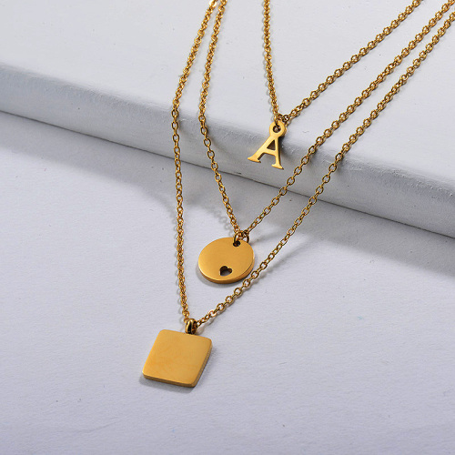 Gold Plated Dainty Multilayred Necklace001