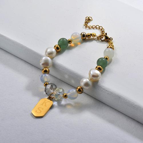 Bracelets de perles avec breloque en perles d'eau douce004