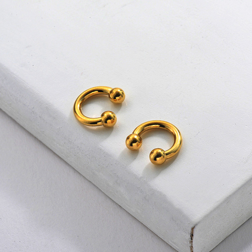 Huggie Ear Cuff 18K Gold Plated
