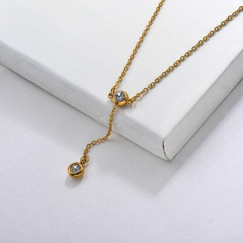Vente en gros Bijoux Collier De Cristal En Forme De Y