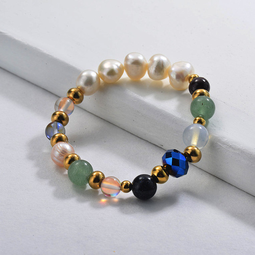 Bracelets de perles de charme de perle d'eau douce