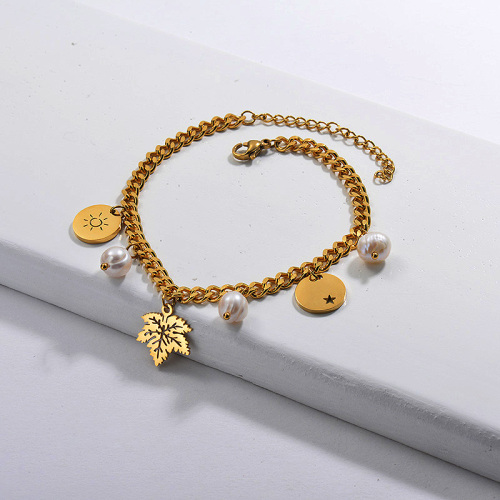 Fashion Fresh Water Pearl Bracelet with Charms