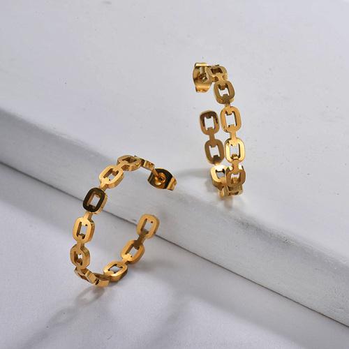 Chain Link Hoop Earring