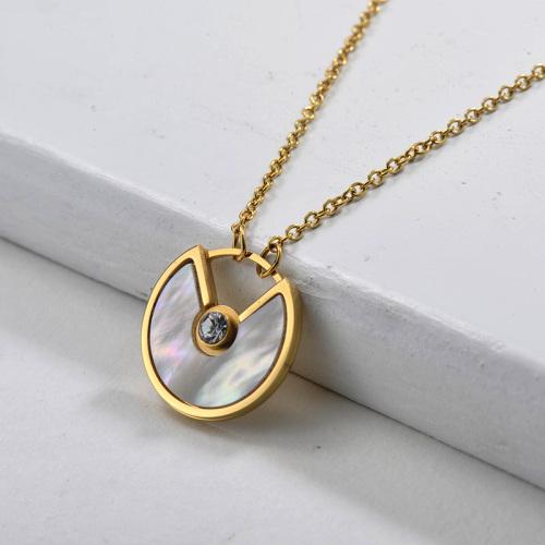 Collier en or de style strass à la mode