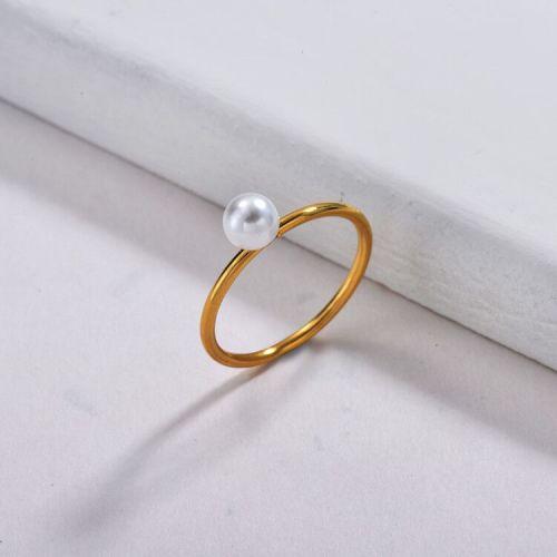 Anillo de perlas delicado de moda para mujer