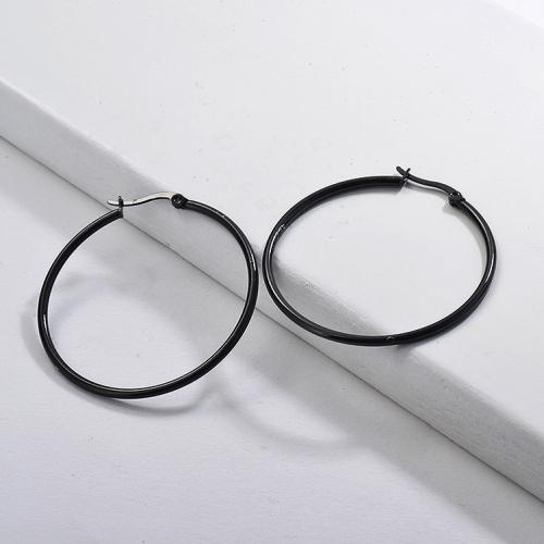 Stainless Steel Jewelry Personality Design Hoop Earrings  44mm