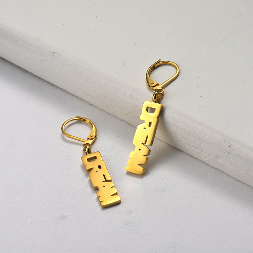 Gold Plated Jewelry Design Fashion Stainless Steel  DREAM  Earrings