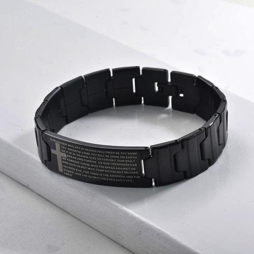 pulsera de modelos de explosion moda en acero negro inoxidable para hombre -SSBTG1154517