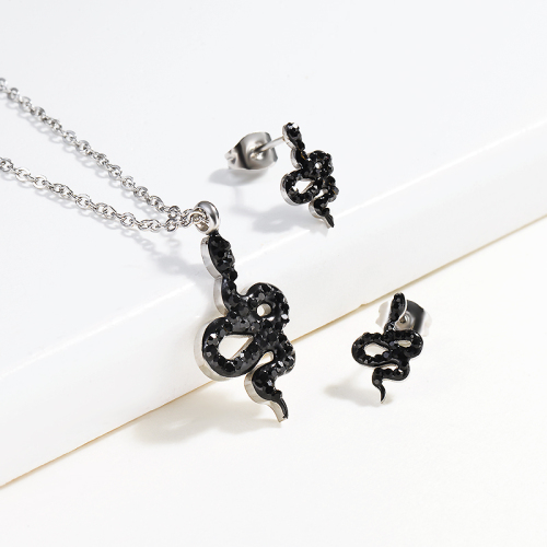 Stainless Steel Silver Snake Jewelry Sets -SSCSG143-13002-S