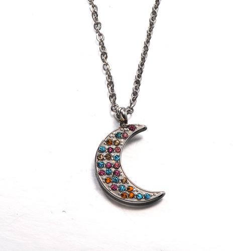 Collar de plata estilo diamante de arcilla simple de moda