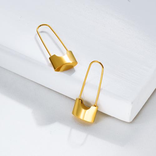 Pendientes de Acero Inoxidable bañados en oro-SSEGG143-15842