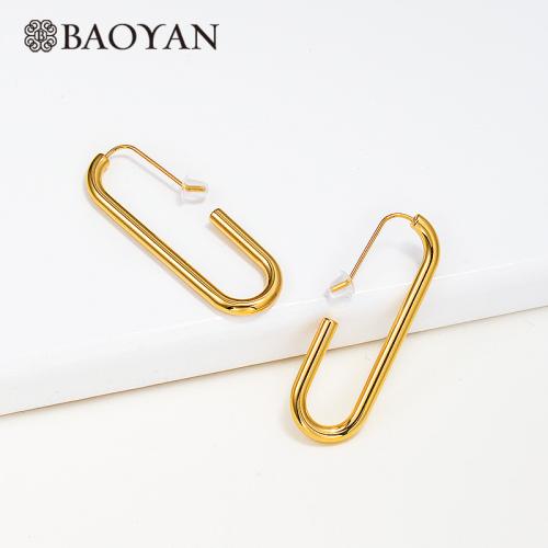 Fashion Geometric Stainless Steel Earrings -SSEGG143-15893