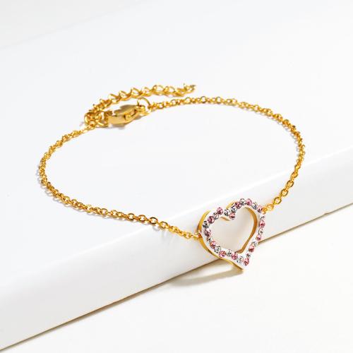 Pulsera de Acero Cristal Inoxydable pour Mujer -SSBTG143-14807-G