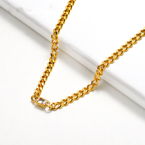 Fashion style gold necklace