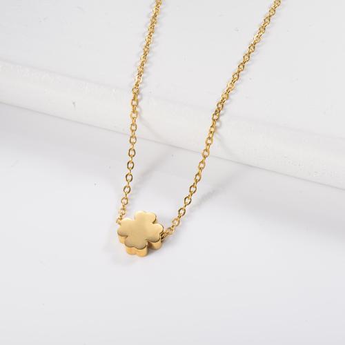 Four Leaf Clover Gold Necklace