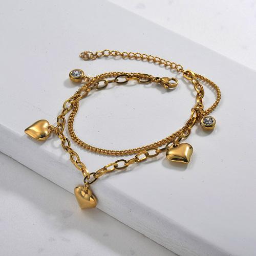 Bracelets à breloques en acier inoxydable pour femmes