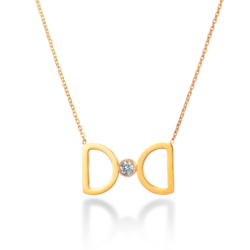 Personalized fashion style gold necklace