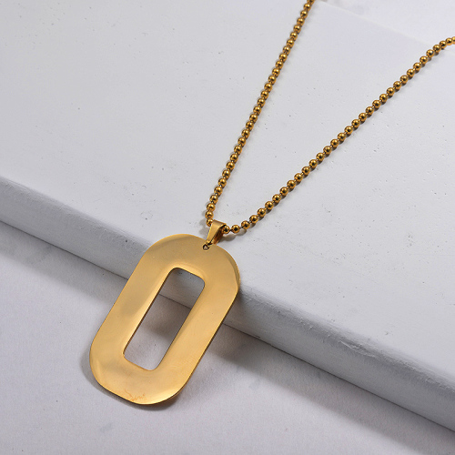 Wholesale Stainless Steel Statement Pendant Necklace