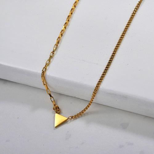 Vente en gros Collier Dainty Triangle En Acier Inoxydable